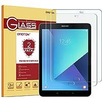 Omoton Protector de pantalla de vidrio templado para Samsung Galaxy Tab S3 y Galaxy Tab S2 9.7, dureza 9H, transparente, resistente a los arañazos, fácil instalación sin burbujas, 2 unidades