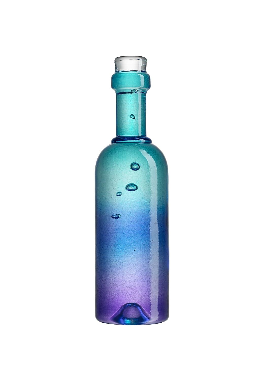 Kosta Boda Celebrate Wine Bottle Shaped Sculpture Blue 7091304