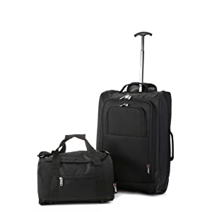 CABIN MAX AREZZO 35X20X20CM 0.4KG BLACK GREY UNDERSEAT STOWAWAY BAG !!!
