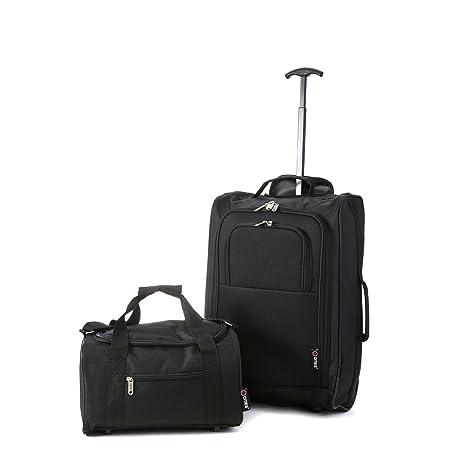 5 Cities Ryanair Handgepäck 35x20x20cm & aufgegebenes Gepäck 55x35x20cm Set - Nehmen Sie beide mit!