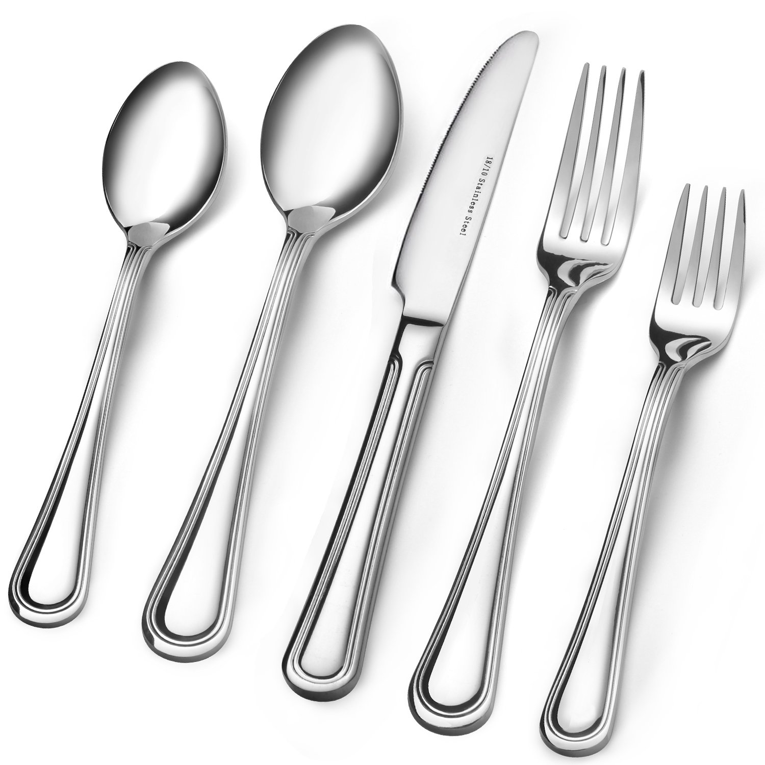 Consistent Quality 18/10 Stainless Steel Flatware 20-Piece Set, Extra Thick Heay Duty - Flatware Set for 4, Dishwasher Safe by Muncene