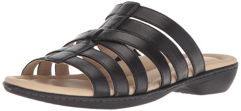 Hush Puppies Women's Dachshund Slide Sandal B074G2SH1Q 09.5 M US Black Leather