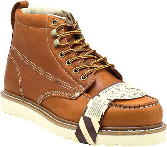 Golden Fox Men's Lightweight Moc Toe Insulated Work Boots