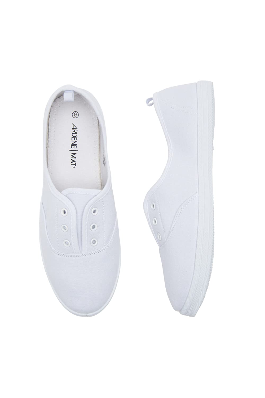 Ardene Women's - Laceless Sneakers B07C345WXM 7 B(M) US|White