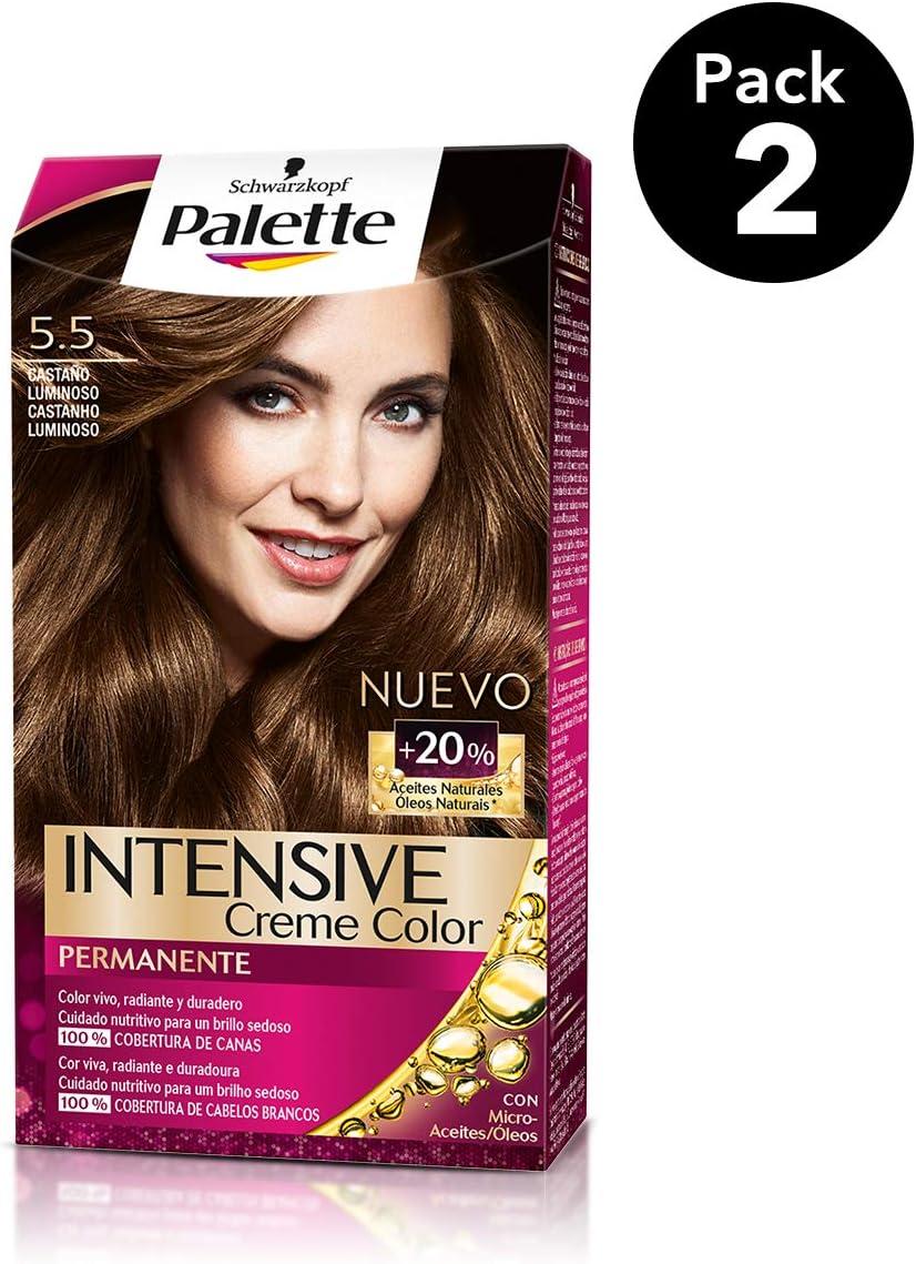 Palette Intense - Tono 5.5 Castaño Luminoso - 2 uds ...