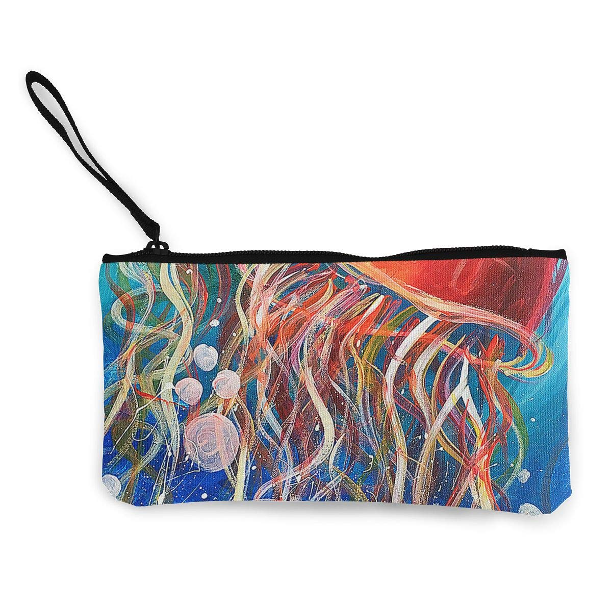 Maple Memories Jellyfish Animal Portable Canvas Coin Purse Change Purse Pouch Mini Wallet Gifts For Women Girls