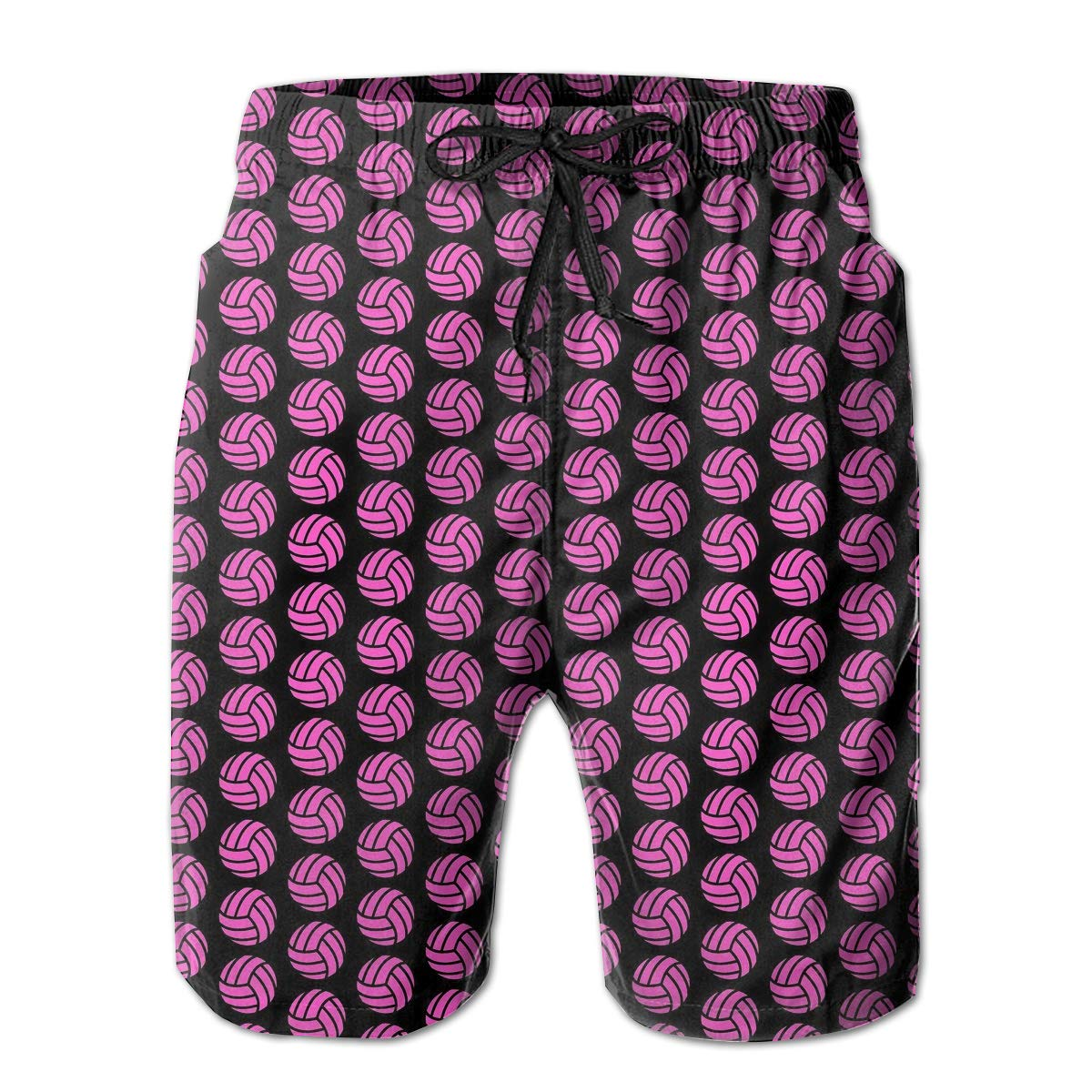 HZamora/_H Mens Pink Volleyball Summer Breathable Quick-Drying Swim Trunks Beach Shorts Board Shorts