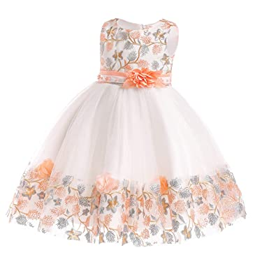 6cb72937fb681 Amazon.com: Miao Express Children's Dress 2019 New 3 4 5 6 7 8 Years ...