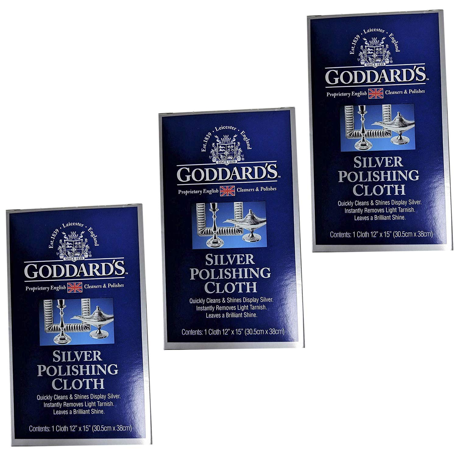 Goddard's Silver Polishing Cloth | No Rubbing or Buffing is Required (3 Pack)