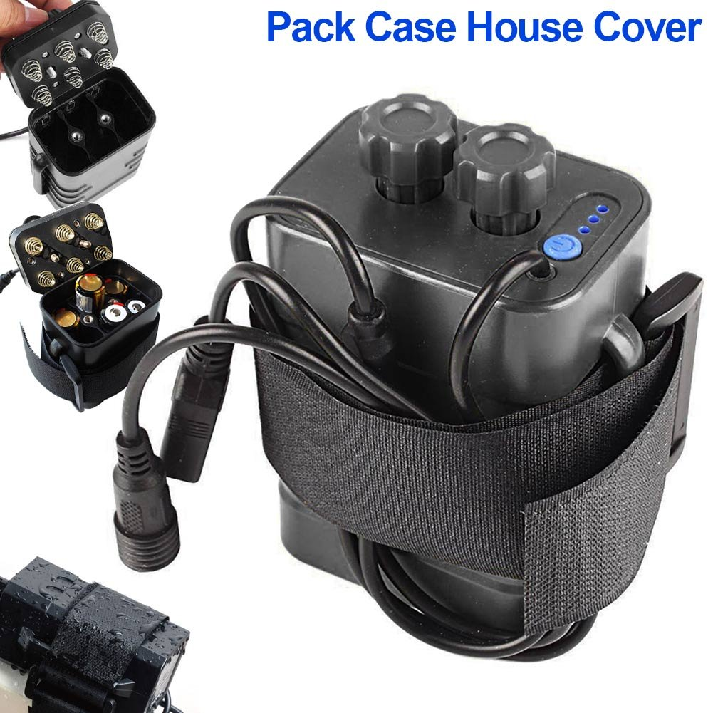 Adealink 8.4V 18650 Waterproof Battery Pack Case 6 Pcs Batteries Holder Storage Box House Cover for Bicycle Bike Lamp