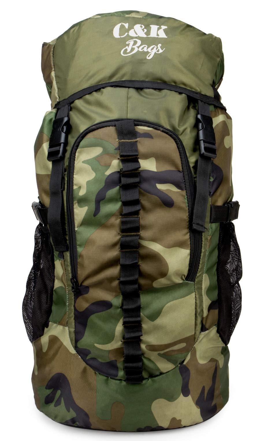 Chris & Kate Large Army Green Camouflage Bag || Travel Backpack || Outdoor Sport Camp Hiking Trekking Bag || Camping Rucksack Daypack Bag (45 litres)(CKB_186LL) (B07FSG54X9) Amazon Price History, Amazon Price Tracker