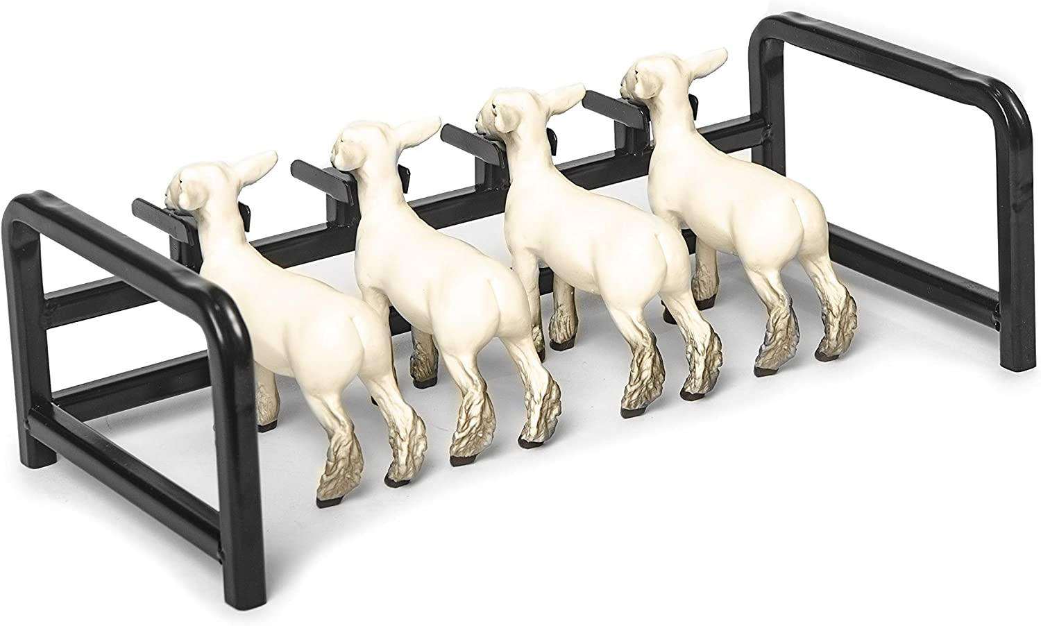 Little Buster Toys Head Goat//Lamb Show Rail with 4 Grand Doe Goats Set 1//16th Scale