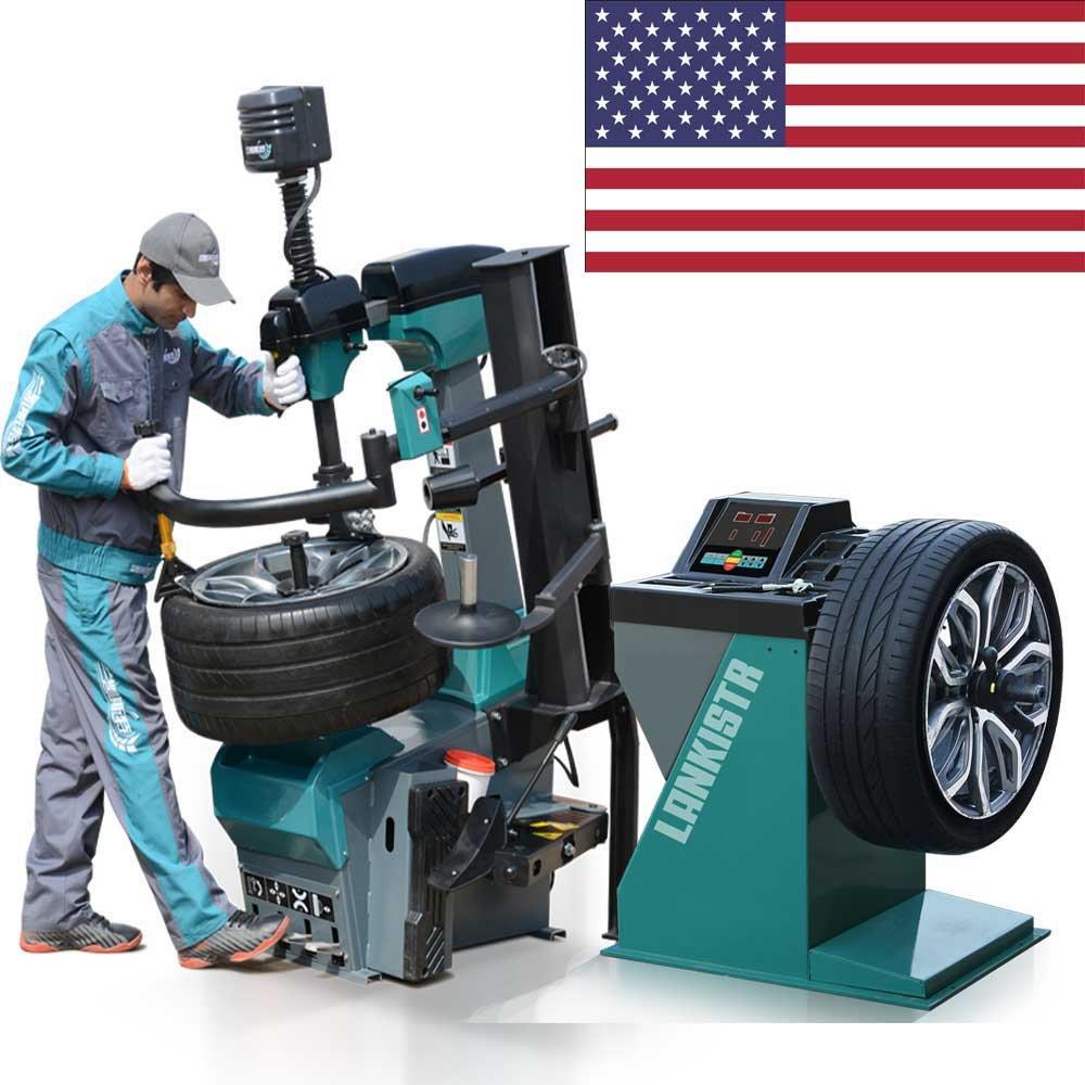 501-137 Tire Changer Wheel Changers Machine Combo 137 Balancer Rim Clamp 12''-30'' / 12 Month Warranty
