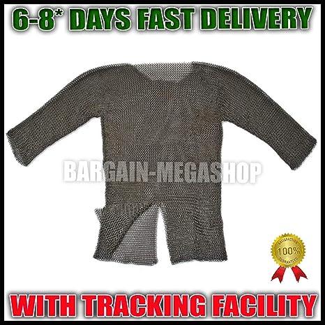QUALITYMUSICSHOP - Camisa vikinga de Acero Templado con Botones (10 mm): Amazon.es: Deportes y aire libre