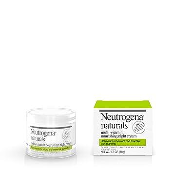 Neutrogena Naturals Multi-Vitamin Moisturizing & Nourishing Night Face Cream with Antioxidant Bionutrients & Vitamins B, C & E, Non-Comedogenic & Sulfate-, Paraben-, Phthalate- & Dye-Free, 1.7 oz