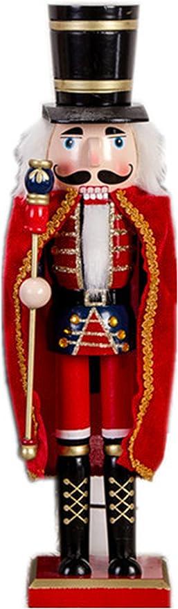 Selene 38,1/cm in legno tedesco schiaccianoci soldati Christmas noce soldati decorazione Blue