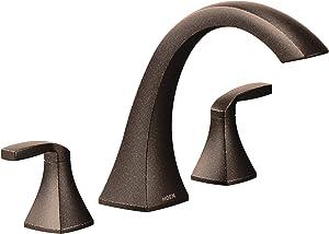 Moen T693ORB Voss 2-Handle Deck Mount Roman Tub Faucet Trim Kit without Valve, Bronze