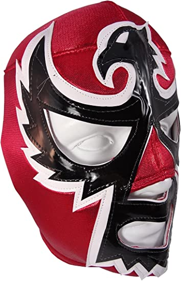 pro-fit Red//White//Green Costume Wear DOS CARAS Adult Lucha Libre Wrestling Mask