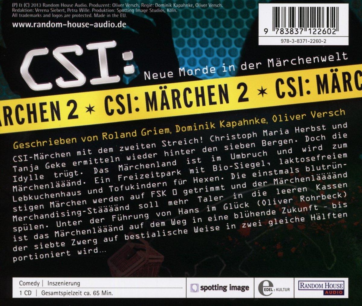 CSI : Märchen 2: Neue Morde in der Märchenwelt: Amazon.de: Roland ...