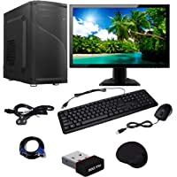 WOLUX WPC-1563 Assembled Desktop Computer (Intel Core 2 Duo 3GHz/4GB/320GB/Integrated Graphics), Black