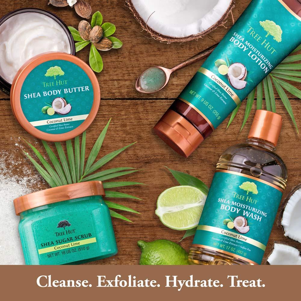 Tree Hut Charcoal Black Sugar Scrub, 18oz, Ultra Hydrating and Exfoliating Scrub for Nourishing Essential Body Care : Beauty