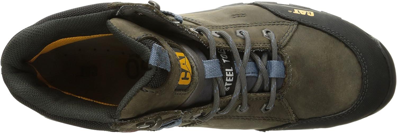 Caterpillar Mens Safeway Mid 6 Steel Toe Work Boot
