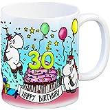 Honeycorns Tasse zum 30. Geburtstag mit Muffin und Einhorn Party - eine coole Tasse von trendaffe - passende weitere Begriffe dazu: Geburtstag 30. Geburtstag Glückwunsch Party Muffin Kerze Einhorn Einhörner Mädchen Frauen niedlich Kaffeebecher Kaffeetasse Becher Geburtstagsgeschenk Geschenk Geschenkidee oder Glückwunsch.