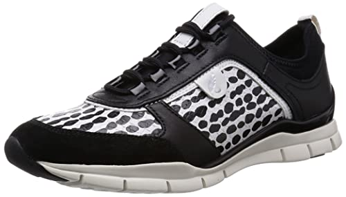 Geox D Sukie B, Low-Top Sneaker Donna, Nero (Schwarz (C0504BLACK