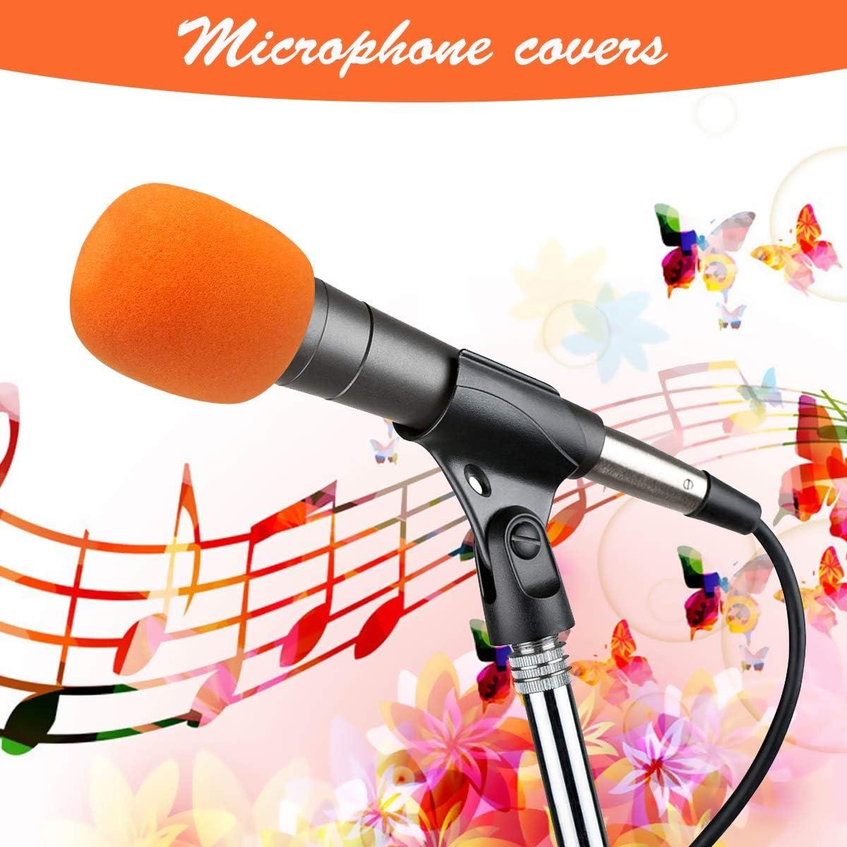 BoloShine Universale Coperture di Microfono Filtro Antivento per Microfono per Aula Sala Conferenze Interviste ai Notiziari Performance Sul Palco 10 Pezzi Multicolore Microfono Antivento