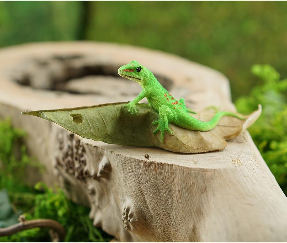 Details about  /Green Brown Lizard Lifelike Fairy Garden Terrarium Balcony Decor Figurine Toy