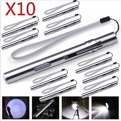 8000LM Lamp MINI Flashlight Torch LED Pen Size T6 USB Rechargeable Light Lamp