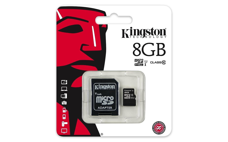 Kingston SDCIT/8GB - Tarjeta de Memoria microSDHC de 8 GB (UHS-I, Clase 10, Temperatura Industrial, con Adaptador SD)