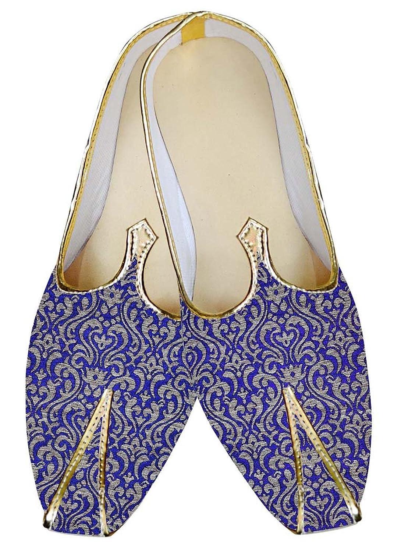 INMONARCH Hombres Azul regio Boda Zapatos Hermosa MJ015034 44.5 EU