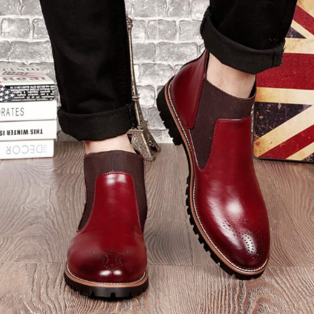 XINGF Herren-High-Top-Schuhe, Große Herrenstiefel Von Brock, Lässige Business-Martin-Stiefel, Anzugstiefel Mit Mit Mit Rundem Kopfanzug a8b719