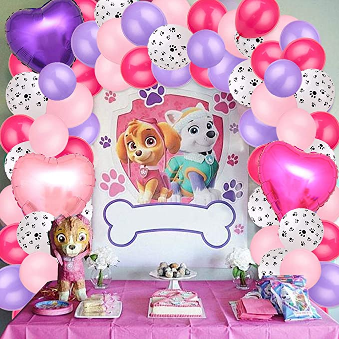 Paw Patrol Party Supplies Pups 1st Birthday Balloon Bouquet Decorations