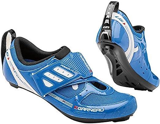Louis Garneau Tribal triatlón par de Zapatos Color Blanco, Hombre, Bleu Curacao: Amazon.es: Deportes y aire libre