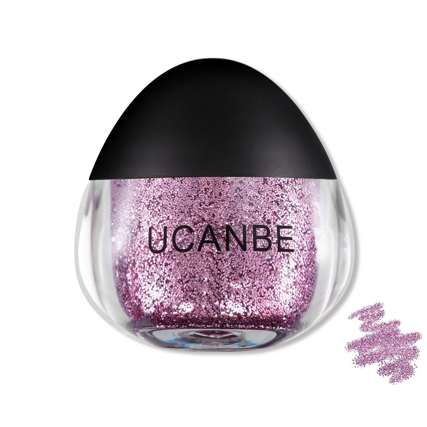 UCANBE Glitter Gel for Face, Body and Hair, Cruelty-Free, 0.63 fl. Oz (rubine)