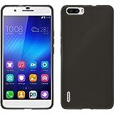 Coque en Silicone pour Huawei Honor 6 Plus - transparent noir - Cover PhoneNatic Cubierta + films de protection