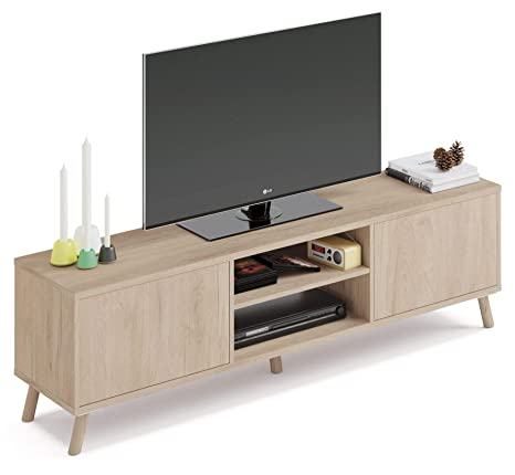 Pitarch Mueble TV Alde Salon Moderno Color Roble 2 Puertas ...