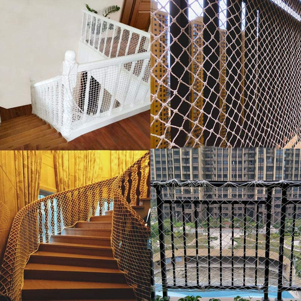 Balcony Protective Net Child Safety Rail Net Anti-Fall Protection Net for Kids Toys Pets on Indoor Outdoor Stairs Patio Baby Safety Plant Net