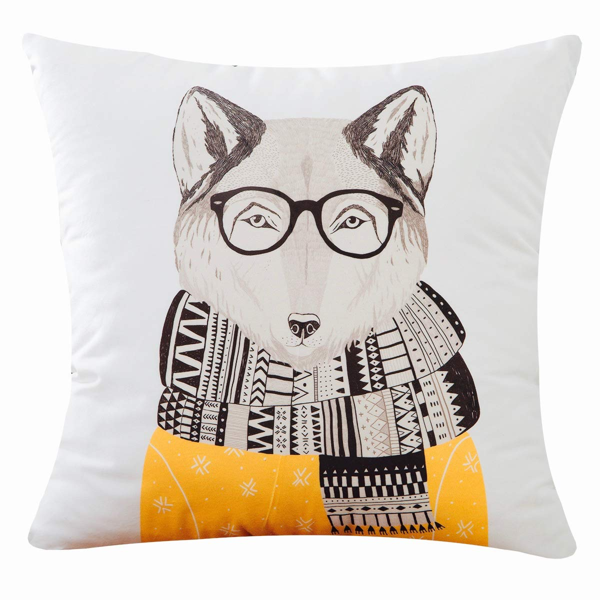 Black and White Decorative Throw Pillows Case for Couch Sofa Bed Square Cushion Cover 18 /×18 Inch PANDICORN Cuddly Velvet Minimal Style Cactus Throw Pillow Covers