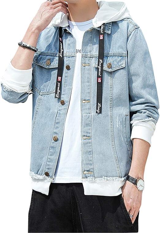 [DMbinshun]デニムジャケット メンズ ジージャン フード付き パーカー ジャケット カジュアル 長袖 ゆったり アウター おしゃれ ストリート系 コート 春