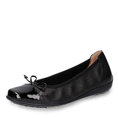 buy online dadfb f3556 CAPRICE 22123-20 005 Gwen Damen Ballerina aus Hirschleder ...