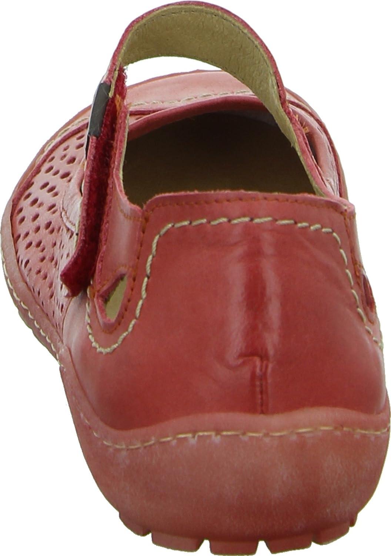 Double You by Dessy 35546 Damen Ballerinas Rot Leder Laser-Cuts  Klettverschluss: Amazon.de: Schuhe & Handtaschen