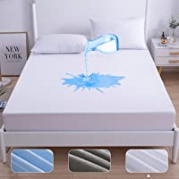 Agedate Cotton Fitted Sheet Waterproof Mattress Protector Queen