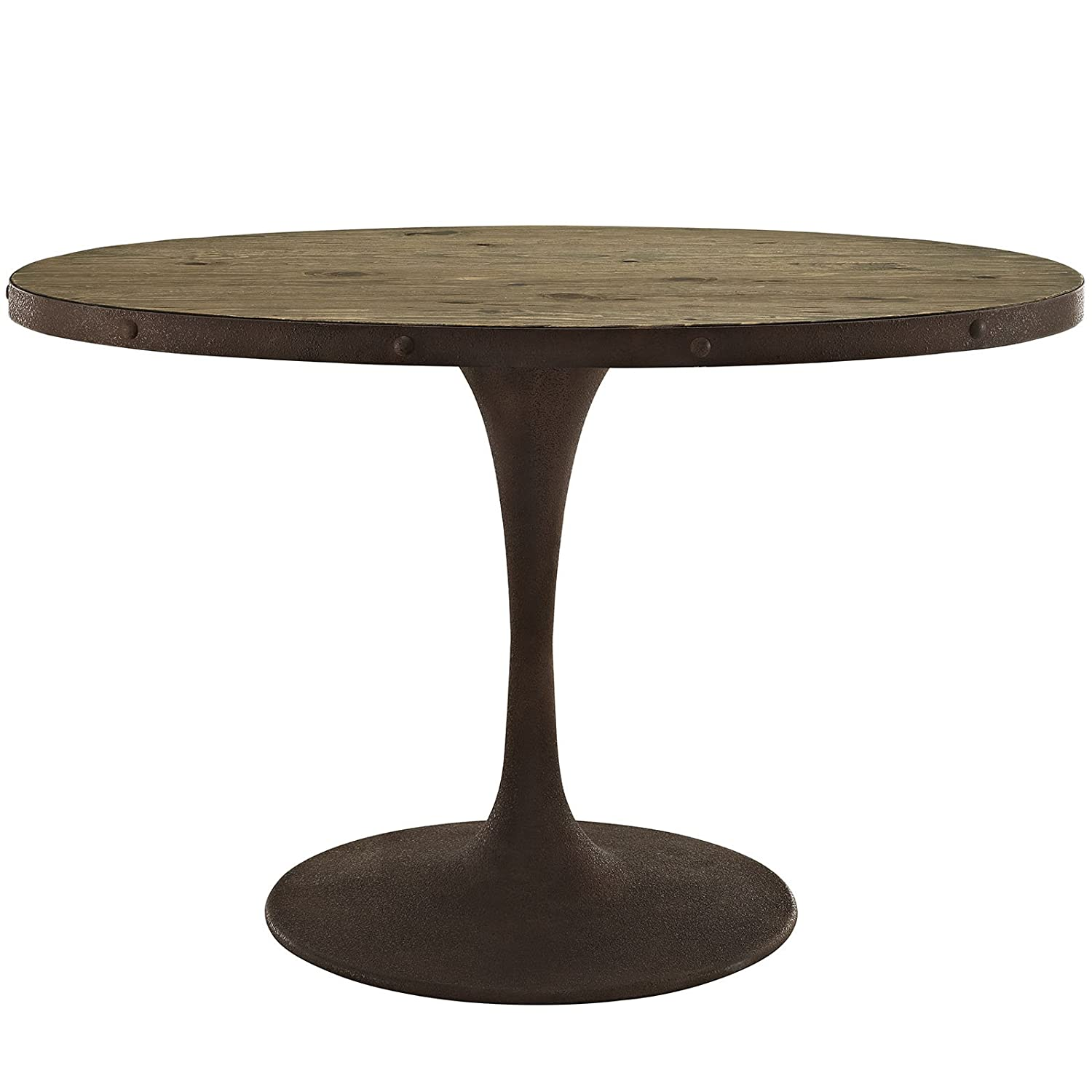 "Amazon Modway Drive Oval Wood Top Dining Table 47"" Brown"