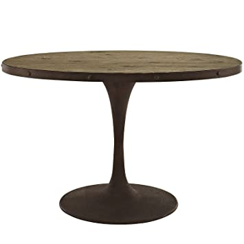 Modway Drive Oval Wood Top Dining Table, 47u0026quot;, ...