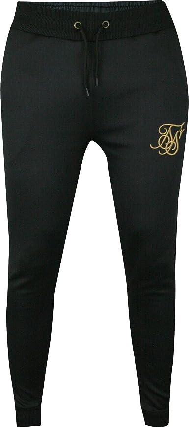 Siksilk Pantalones Poly Tricot Cuff Negro Dorado Talla M Medium Amazon Es Ropa Y Accesorios