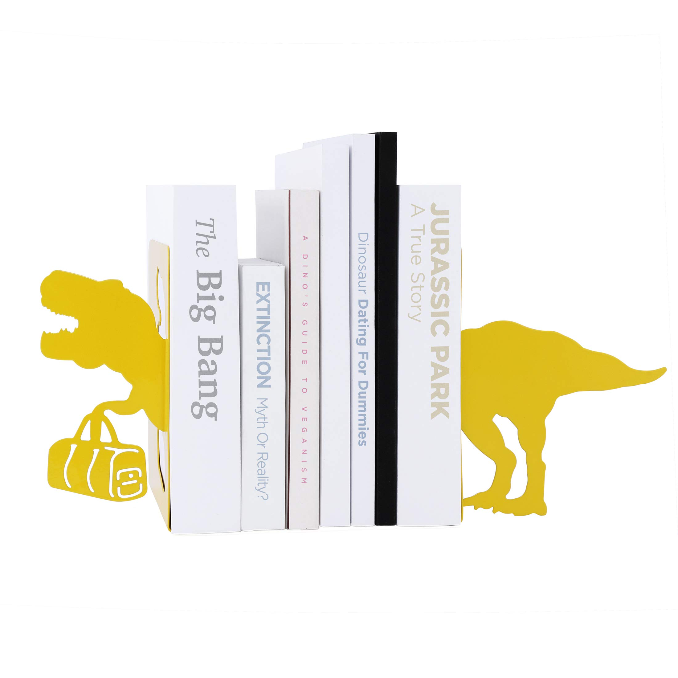Mustard T-Rex Dinosaur Bookends by Mustard and Co.