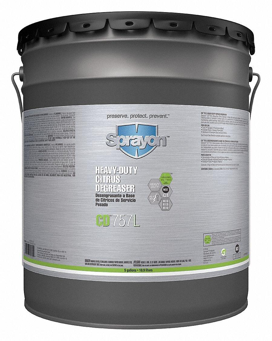 Heavy Duty Degreaser, 5 gal. by Sprayon